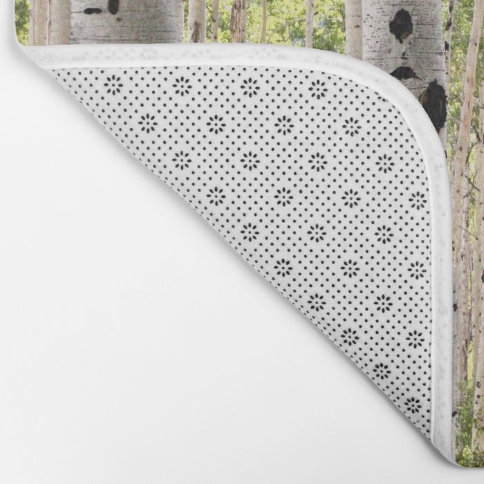 Dreamy Aspen Grove Bath Mat