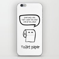 toilet iPhone & iPod Skins featuring TOILET PAPER  by d.ts