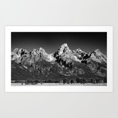 Grant Teton National Park - Mountains Art Print