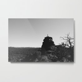 Standing on the Top in Sedona AZ Metal Print