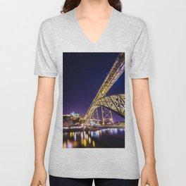 Luís I Bridge Porto Unisex V-Neck