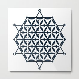 Flower of Life, Sacred Geometry Metal Print