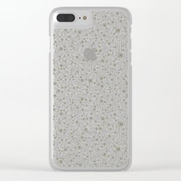 Metallic transistor,PATTERN Clear iPhone Case