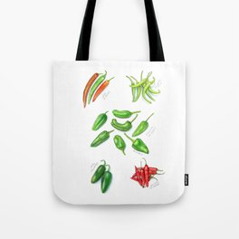 Spicy Peppers Tote Bag