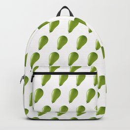 Green balloons. Backpack