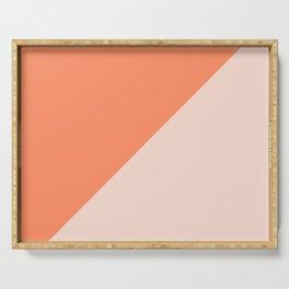 Bright Orange & Nude pink - oblique Serving Tray
