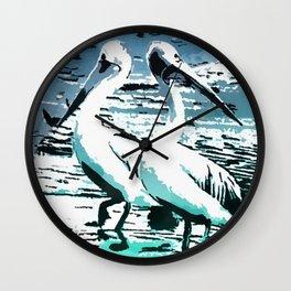 Pelicans Wall Clock