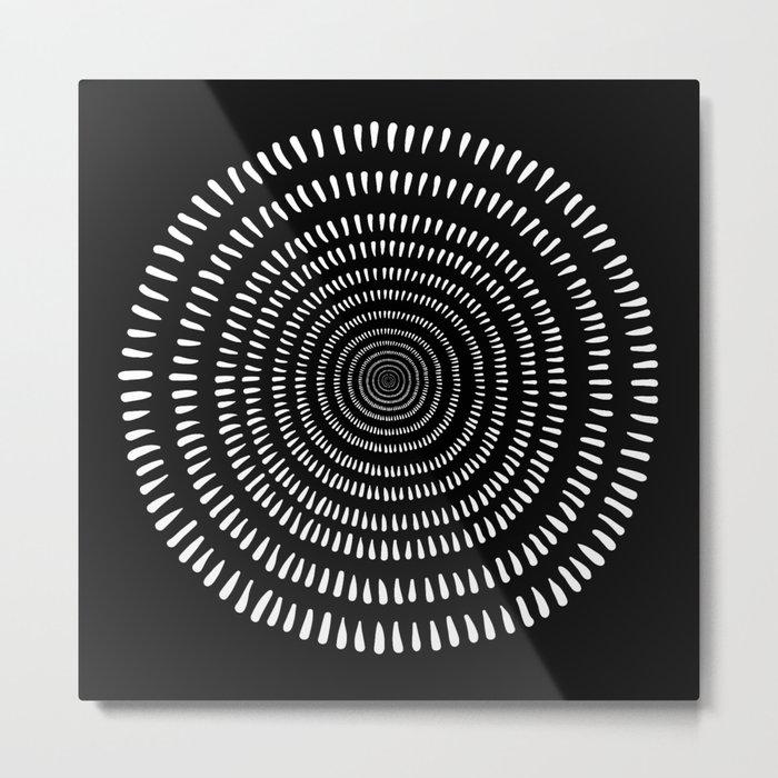 Fjorn black Metal Print