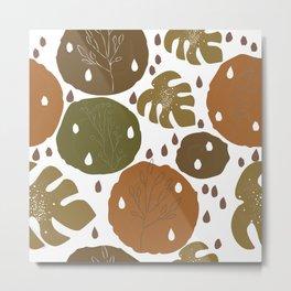 Terracotta and Nature Metal Print