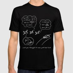 Bird vs. Car: The Real Story Mens Fitted Tee Black MEDIUM