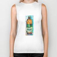 ale giorgini Biker Tanks featuring Genesee Cream Ale by Dorrie Rifkin Watercolors