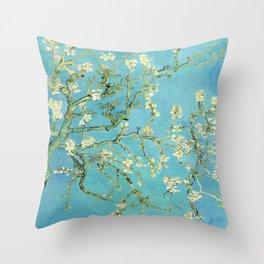 Vincent Van Gogh Almond Blossoms Throw Pillow