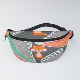 Summer fun with foxes and leaves Fanny Pack