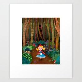Port-Little Red Art Print