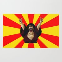 satan Area & Throw Rugs featuring Mr Satan by husavendaczek