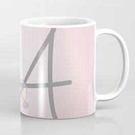 Pink Letter A with Stitch Marker Coffee Mug