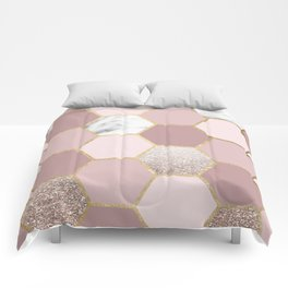 Sensations of the mind rose gold Comforters