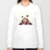 onesie Long Sleeve T-shirts featuring Panda Onesie Nomi by Naomi Shingler