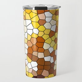 The glowing sun stained glass Travel Mug