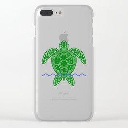 Magic Square Turtle Clear iPhone Case