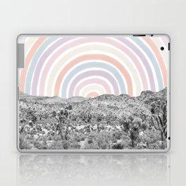 Happy Rainbow Rays // Scenic Desert Cactus Hill Landscape Watercolor Collage Dorm Room Decor Laptop & iPad Skin