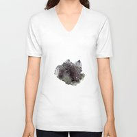 mineral V-neck T-shirts featuring Mineral by .eg.