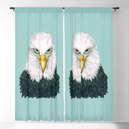 Bald eagle portrait Blackout Curtain