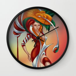 Floral feelings Wall Clock