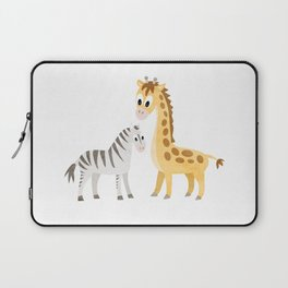 Safari Baby Zebra and Giraffe Laptop Sleeve