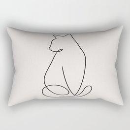 One Line Kitty Rectangular Pillow