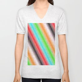 Colour lines and strokes Unisex V-Neck