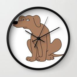 Suspicious dog Wall Clock