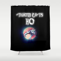 thundercats Shower Curtains featuring Thunder Cats Ho by Malik Majid
