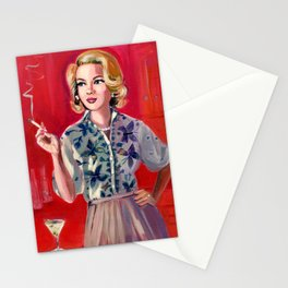 Martini's for lunch Stationery Cards