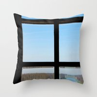 clear Throw Pillows featuring Clear by the insight city