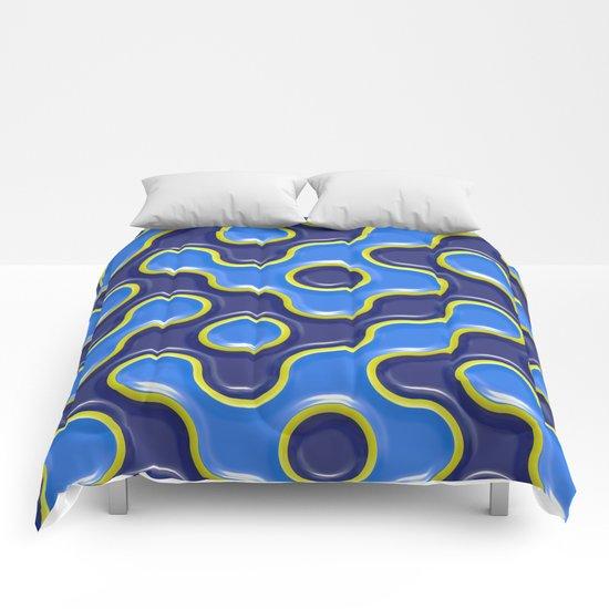 pattern blue 7 Comforters