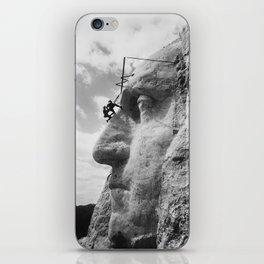 Mt. Rushmore Under Construction - Washington Sculpture iPhone Skin