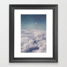 Galaxy clouds Framed Art Print