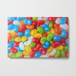 Yummy Colorful Candy Jelly Beans Metal Print