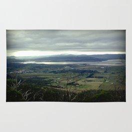 Tasmania's rural & mountainscape Scenery Rug