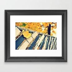 stuck in fall Framed Art Print