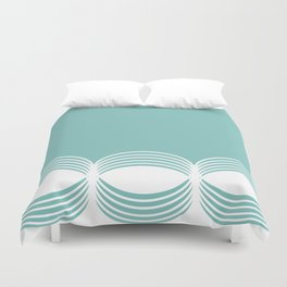 Abstract pattern - blue and white. Duvet Cover