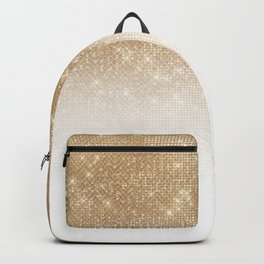 Glamorous Gold Glitter Sequin Ombre Gradient Backpack