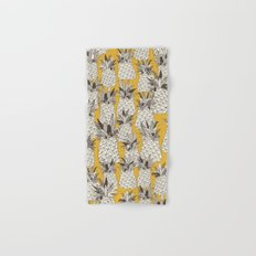 pineapple sunshine yellow Hand & Bath Towel