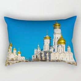 Moscow Kremlin cathedrals Rectangular Pillow
