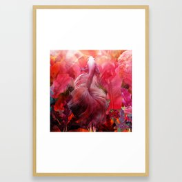 """""""Betta splendens Tropical Dream (Siam fighter)"""" Framed Art Print"""