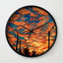 Street Meets Sky  Wall Clock