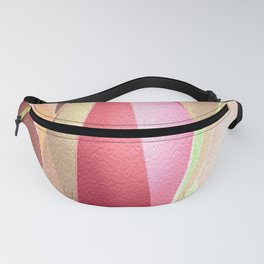 Red Beige Pointed Abstract Geometric Triangles Fanny Pack