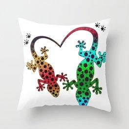 Lizard Love Throw Pillow