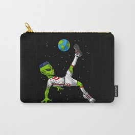 Space Alien Soccer Player Carry-All Pouch